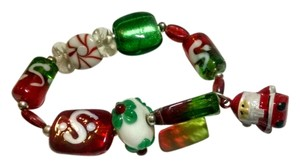 New Handmade Christmas Bracelet Stretch Santa J398