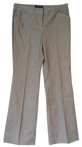 Express Pinstripe Boardroom Ready Boot Cut Pants Black &white