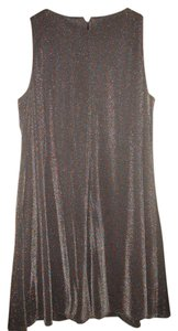 short dress Metallic grey Baby Doll Vintage on Tradesy