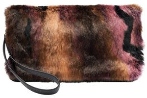Juicy Couture Faux Fur Faux Leather Clutch