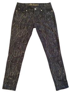 WallFlower Tribal Print Bohemian Denim Skinny Jeans