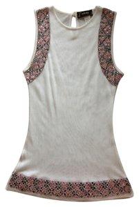 Versace Beaded Vintage Top Cream