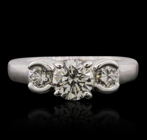 Price Slashed!!! **0.96ctw Diamond Engagement Ring - 14k White Gold