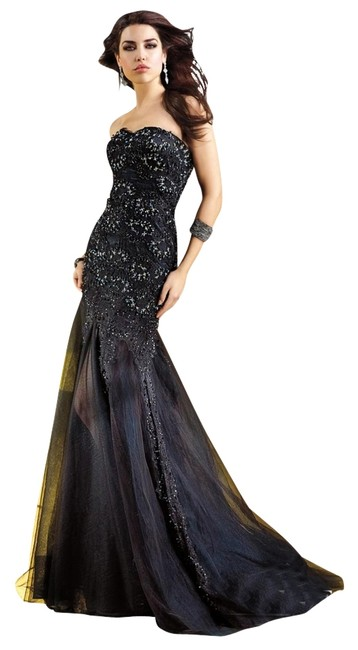 Alyce Paris Prom Pageant Strapless Black Dress