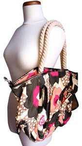 Kenneth Cole Beach Rope Handles Rock The Tote Beach Tote Poppy Multi Beach Bag