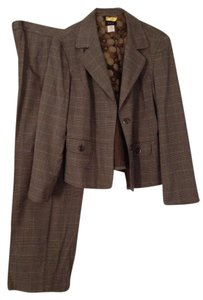 RQT Brown Plaid Pant Suit - Plus