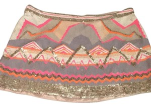 AllSaints Tribal Sequined Mini Mini Skirt Multi