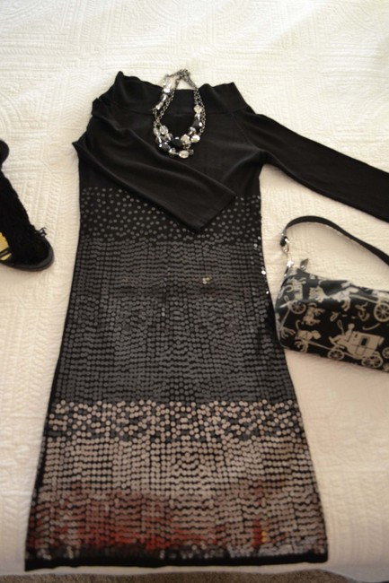Guess By Marciano Knit Sequin Ombre Dress