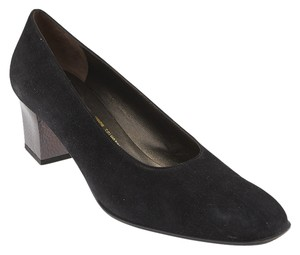 Salvatore Ferragamo Chris Suede Pumps Black Formal