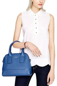 Kate Spade Leather Gold Hardware New York Tote in Bluebelle