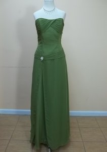 Impression Bridal Moss Chiffon 1679 Formal Bridesmaid/Mob Dress Size 14 (L)