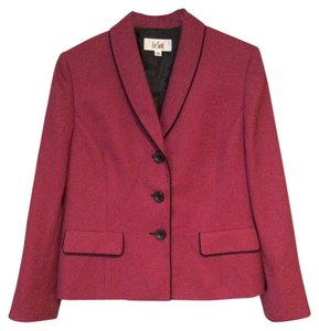 Le Suit Pink Fitted Roseberry/Harvest Berry Blazer