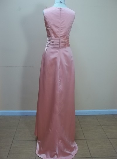 Impression Bridal Dark Coral Satin 1683 Formal Bridesmaid/Mob Dress Size 12 (L)