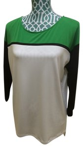 Calvin Klein Shirt Top Green, Black, White