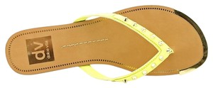 DV by Dolce Vita Dax Yellow Studded Acid Yellow Sandals