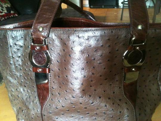 Donald J. Pliner Tote in Brown/gray