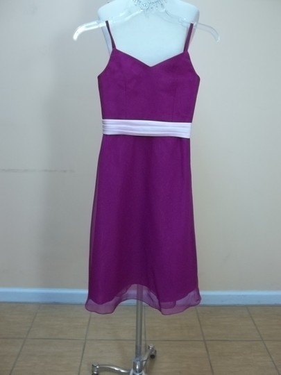 Impression Bridal Violet/Cotton Candy Chiffon 1686 Formal Bridesmaid/Mob Dress Size 8 (M)