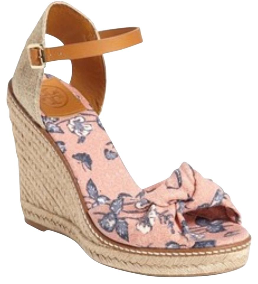 18f55776f56 Tory Burch Olea Floral Macy Espadrille Design Sandal Wedges Size US ...