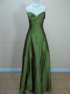 Impression Bridal Olive Taffeta 1691 Formal Bridesmaid/Mob Dress Size 12 (L)
