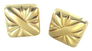 Other 14K YELLOW GOLD EARRING SQUARE ITALY HALLMARK NO SCRAP FINE JEWELRY ON SALE
