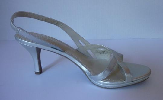 Naturalizer Silver Sandals Image 1