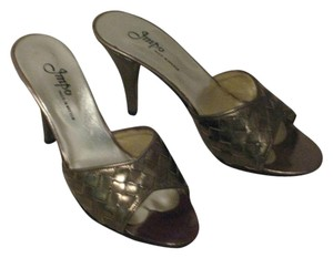 Impo Vintage Leather metallic bronze/gold Mules