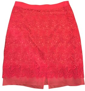 Club Monaco Floral Bright Skirt Pink