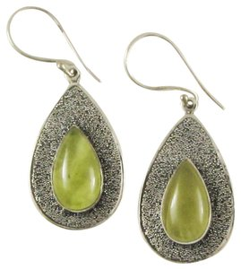 Island Silversmith Island Silversmith Solid 925 Sterling Silver Prehnite Earrings 0501N *FREE SHIPPING*
