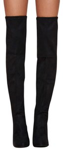 Steve Madden Thigh High Suede Black Boots