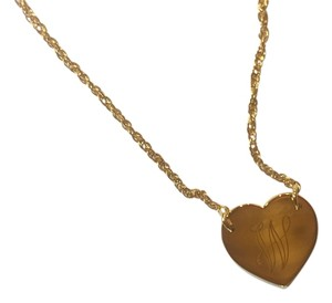 Jennifer Zeuner Swirly Engraved Heart Necklace - W