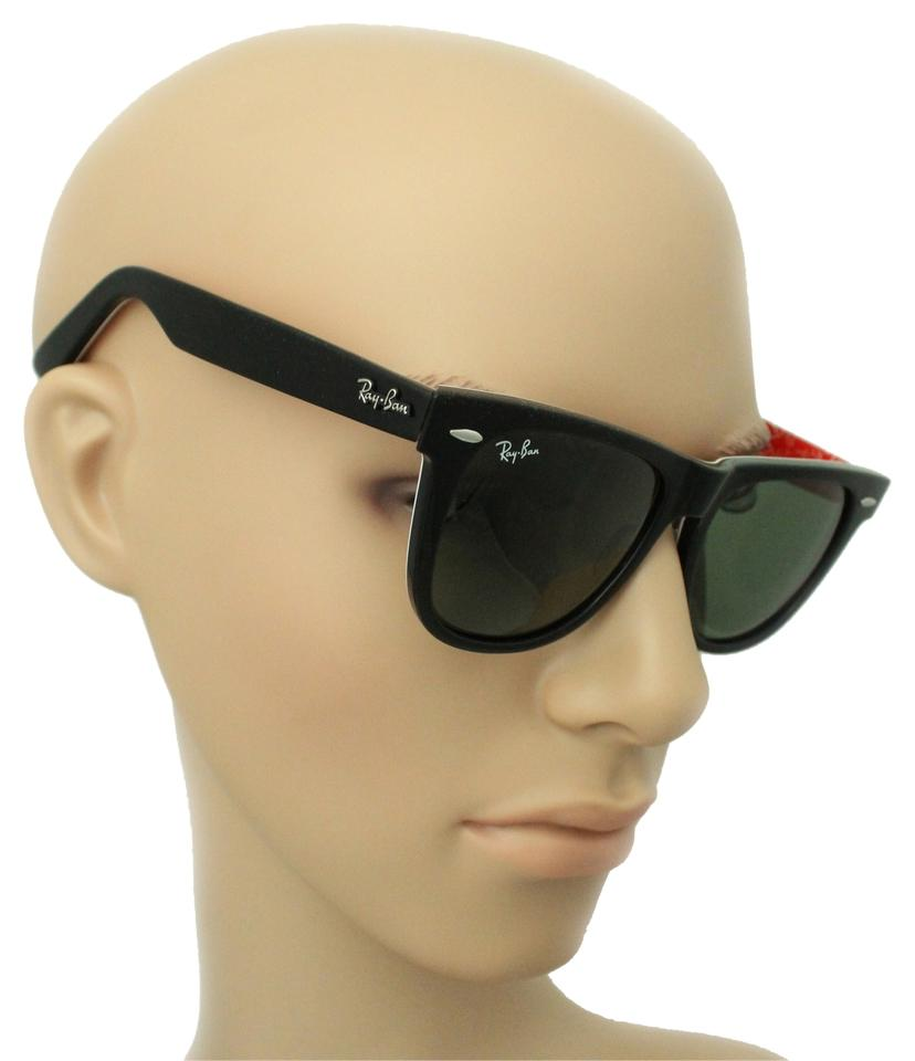 Ray-Ban Black + Red Texture Inside Men Women Rb2140 Rb 2140 Wayfarer ...