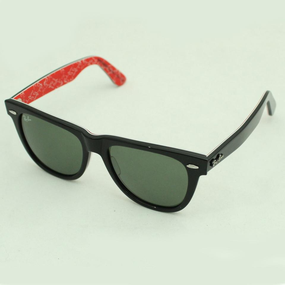 Ray Ban Black Red Texture Inside Sunglasses 50 Off