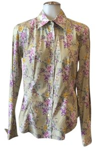 Etro Button Down Shirt Green floral