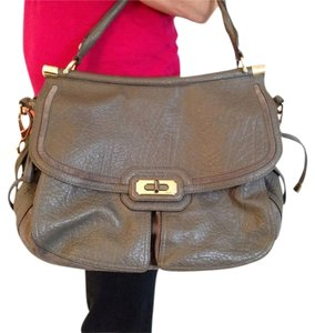 Coach Limited Edition Pebbled Leather Chelsea Satchel in Slate Gray