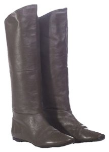 Belle by Sigerson Morrison Supple Leather Modern Elephant (Grey) Boots
