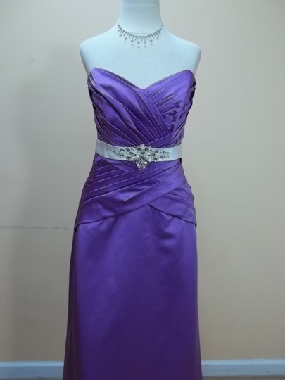 Impression Bridal Purple Satin 1724 Formal Bridesmaid/Mob Dress Size 12 (L)