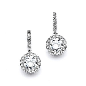Mariell Top Selling Pave Wedding Or Bridesmaids Earrings With Brilliant Cz Drop 4205e