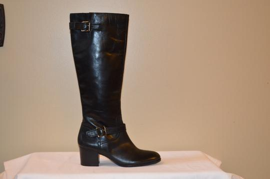 Franco Sarto Black Leather Womens Boots