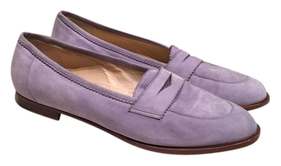 878a90c8e73 Manolo Blahnik Light Purple 38.5 Lilac Suede Spring Loafers Or 8.5 Flats.  Size  US 8 Regular ...