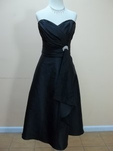 Impression Bridal Black Taffeta 1727 Formal Bridesmaid/Mob Dress Size 10 (M)