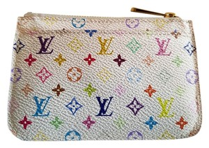 Louis Vuitton Louis Vuitton Multicolore Blanc Litchi Key pouch Cles