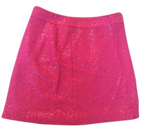 Ann Taylor LOFT Sequin Sparkle Mini Skirt Pink