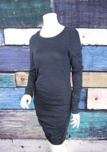 Victoria's Secret short dress Black, Blue Moda International Shimmer Sequin Sweater on Tradesy
