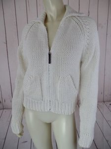 J.Crew Cotton Acrylic Bulky Knit Zip Front Pockets Hot Sweater