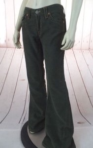 True Religion Joey Style Low Rise Cotton Poly Flare Hippie Pants