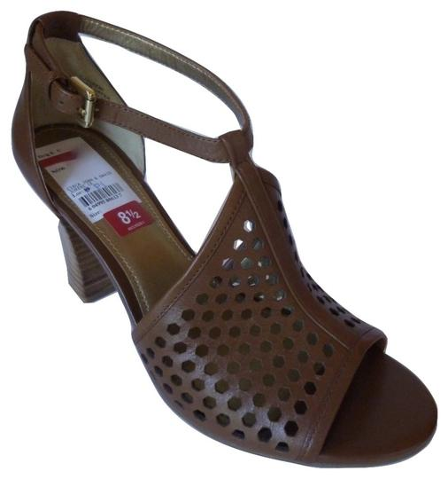 Circa Joan & David Leather Brown Sandals