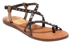 Dolce Vita Gladiator Flame Black Sandals