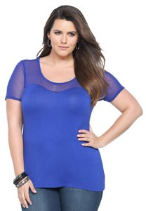 Torrid 2x 18/20 Mesh Brand New W/ Tags Top Blue