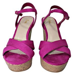 Fioni Wedge Suede Ankle Strap BrightViolet Wedges