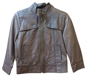 Hinge Brown Leather Jacket